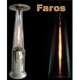 """FAROS"" GLASS TUBE FLAME PATIO HEATER"