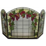 "VITRO ""RED GRAPES"" FIREPLACE COVER ACCESSORY"