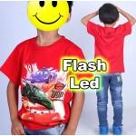 """Παιδικό μπλουζάκι κοντομάνικο """"Cars"""" με led flash"""