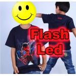 """Παιδικό μπλουζάκι κοντομάνικο """"Spiderman"""" με led flash"""