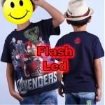 """Παιδικό μπλουζάκι κοντομάνικο """"Avengers"""" με led flash"""